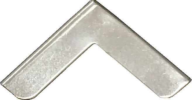 Silver metal corners
